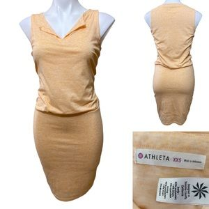 Athleta xxs peach Vida ruched dress spring summer